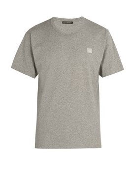 Nash Face Embroidered Cotton Jersey T Shirt by Acne Studios