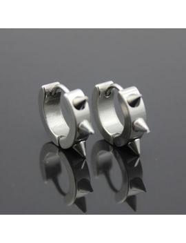 Men Women Fashion Stainless Steel Hoop Stud Punk Earrings Ear Gothic Unisex New by Unbranded