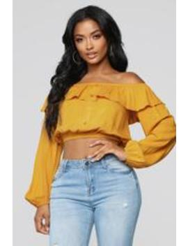 Forever Your Lady Ii Top   Mustard by Fashion Nova