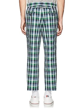 Checked Cotton Silk Cargo Trousers by Thom Browne