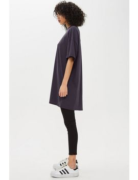 High Neck Tunic T Shirt by Topshop
