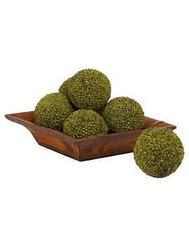 """Nearly Natural Set Of 6 Berry Ball Green (4"""") by Nearly Natural"""