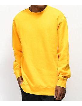 Zine Cruise Mustard Crew Neck Sweatshirt by Zine