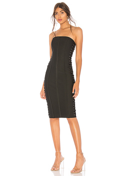 Mimi Lace Up Strapless Dress by By The Way.
