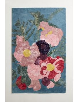 Tufted Floristry Rug by Anthropologie