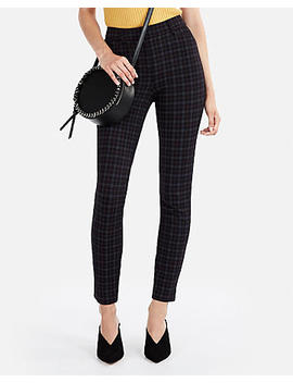 High Waisted Windowpane Knit Skinny Pant by Express