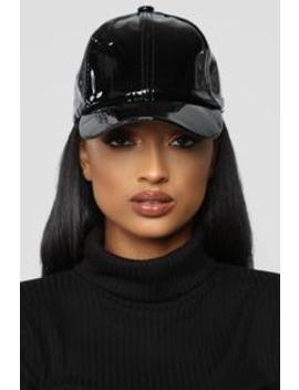 To The Ball Game Baseball Cap   Black by Fashion Nova