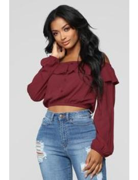 Forever Your Lady Ii Top   Wine by Fashion Nova