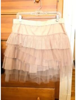 Nwt Bcbg Nude Tiered Tulle Ballerina Skirt Size L (As Seen On Taylor Swift!) by Bcbgmaxazria