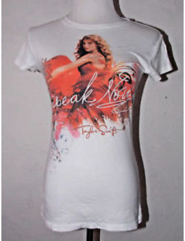 Taylor Swift Womens Speak Now T Shirt Medium Cotton Album Cover Rare Music Top by Taylor Swift