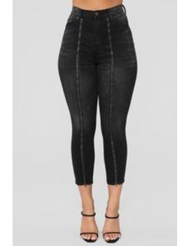 Stop Fronting High Rise Zip Front Jeans   Black by Fashion Nova