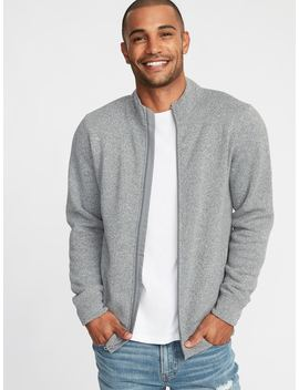 Mock Neck Full Zip Sweater Knit Jacket For Men by Old Navy