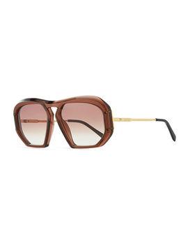 Square Gradient Acetate Sunglasses by Celine