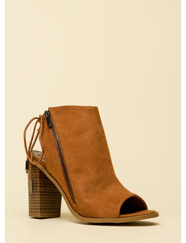 Great Adventure Chunky Lace Back Booties by Go Jane