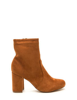 Stacked In Your Favor Chunky Booties by Go Jane