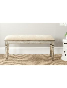 Safavieh Layla Beige Mirrored Bench by Safavieh