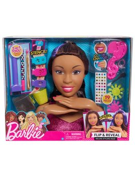 Barbie Deluxe Styling Head   Brunette, Barbie Flip & Reveal by Mattel