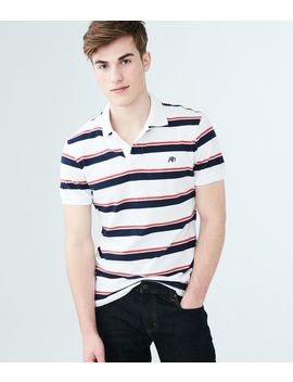 A87 Striped Jersey Polo by Aeropostale