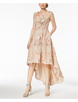 Sequined High Low Gown by Calvin Klein