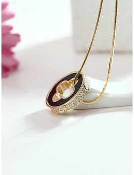 Open Clover Pendant Gold Plated Necklace by Romwe