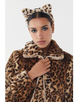 Fuzzy Cat Ears Headband by Urban Outfitters