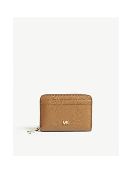 Money Pieces Grained Leather Card Purse by Michael Michael Kors