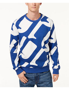 Men's Hyce Allover Oversized Logo Sweatshirt, Created For Macy's by G Star Raw