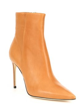 Vida Leather Dress Booties by Brian Atwood