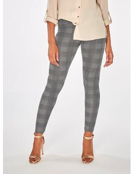 Black  And Ivory Check Print Leggings by Dorothy Perkins