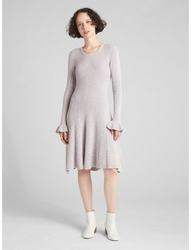 Fit And Flare Long Sleeve Sweater Dress by Gap