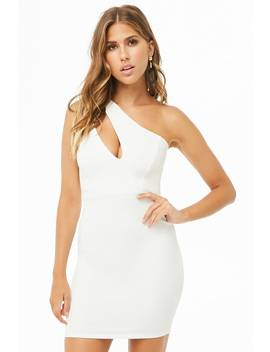 Cutout One Shoulder Bodycon Dress by Forever 21