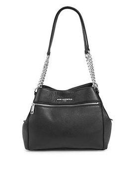 Bouquet Pebbled Leather Hobo Bag by Karl Lagerfeld Paris