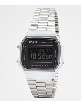 Casio A168 Wem 1 Vt Vintage Silver & Black Digital Watch by Casio America Inc