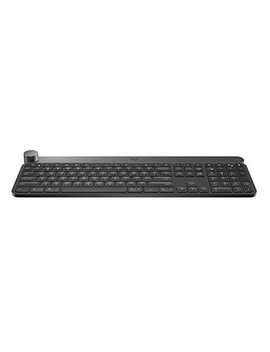 Logitech Craft Advanced Wireless Keyboard With Creative Input Dial And Backlit Keys, Dark Grey And Aluminum by Logitech