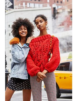 Off Her Shoulder Cable Jumper by Free People