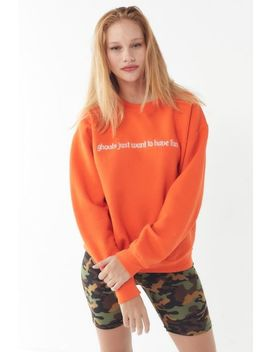 Ghouls Just Want To Have Fun Crew Neck Sweatshirt by Urban Outfitters