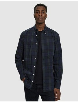 Ripstop Button Down Shirt In Blackwatch by Gitman Brothers Vintage