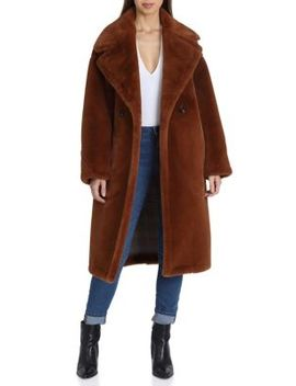 Oversized Faux Fur Double Breasted Coat by Avec Les Filles