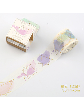 New Watercolor Gilding Washi Tape Diy Decoration Scrapbooking Planner Masking Tape Adhesive Tape Label Sticker Stationery by Viety