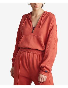 Vintage Dyed Fleece Half Zip Hoodie by Champion