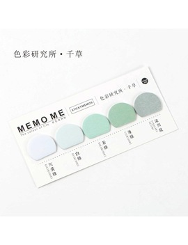 Round Shape Various Colorful Self Adhesive N Times Memo Pad Sticky Notes Post It Bookmark School Office Stationery Supply by He Dao