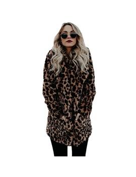 Yjsfg House High Quality Luxury Faux Fur Coat For Women Coat Winter Warm Fashion Leopard Artificial Fur Women's Coats Jacket  by Yjsfg House