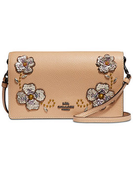 Sequin Detail Foldover Crossbody by Coach