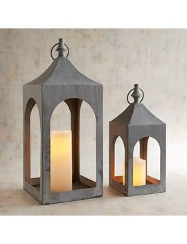Gray Metal Arch Lanterns by Pier1 Imports