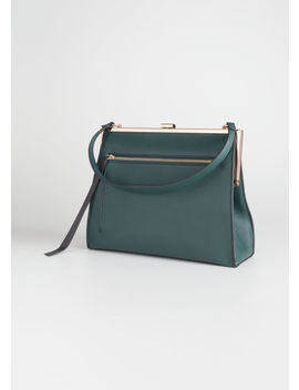 Grainy Leather Frame Handbag by & Other Stories
