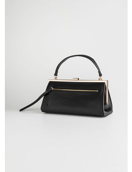 Grainy Leather Chain Small Bag by & Other Stories