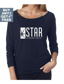 Star Labs Sweatshirt. Ladies Shirts Women Sweatshirt Graphic Shirts Ladies Tshirts Star Laboratories Flash The Tv Series S.T.A.R. Labs Shirt by Monopoko