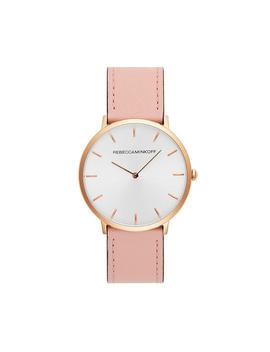Major Rose Gold Tone Blush Strap Watch, 40 Mm by Rebecca Minkoff