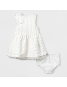 Baby Girls' Woven A Line Dress   Cat & Jack™ White by Cat & Jack™