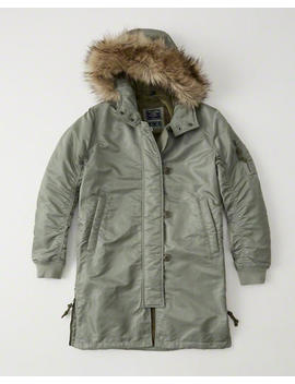 Shiny Nylon Parka by Abercrombie & Fitch